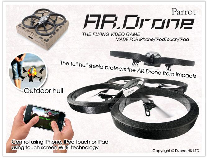 NEW Parrot Ar.Drone RC Helicopters w/ Camera WiFi Control by iPhone