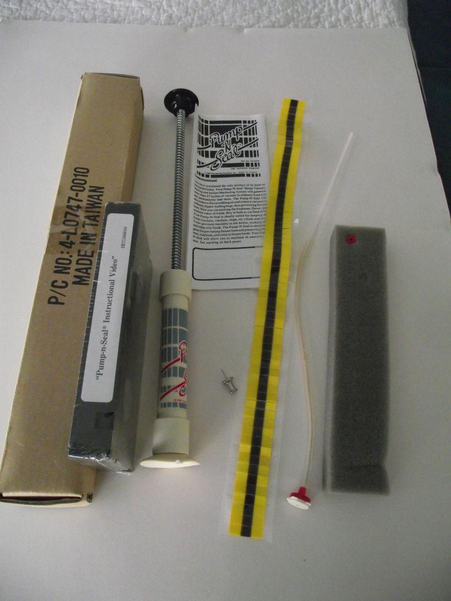 Original Pump N Seal Vacuum Food Sealer by Ekco As Seen on TV