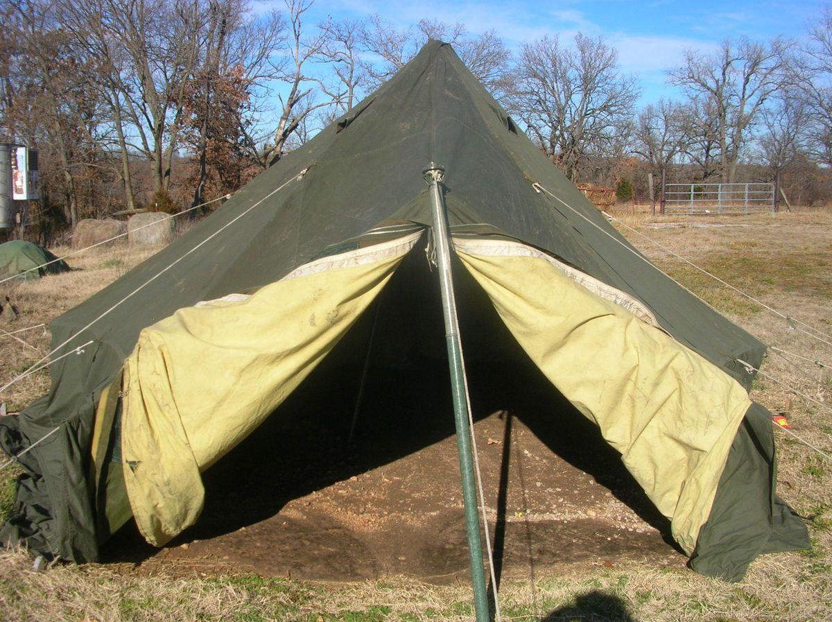 & 10 Man Arctic Artic Hexagonal GP Military Army Surplus Wall Tent