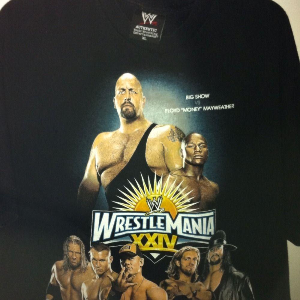 BIG SHOW VS FLOYD MAYWEATHER WWF WRESTLEMANIA XXIV XL Shirt CENA ORTON