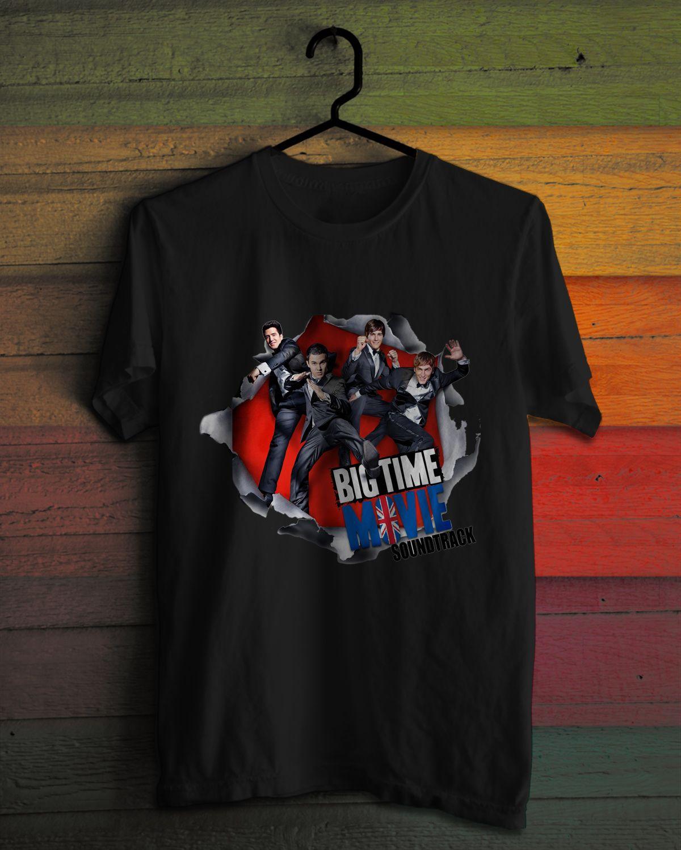 New Big Time Rush Movie Soundtrack Boy Band World Tour Black T Shirt