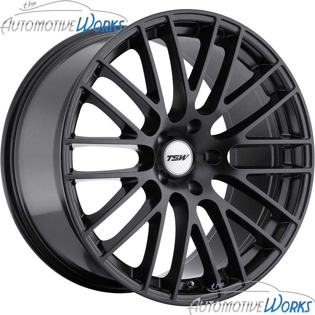 19x8 5 TSW Max 5x114 3 5x4 5 40mm Matte Black Rims Wheels inch 19