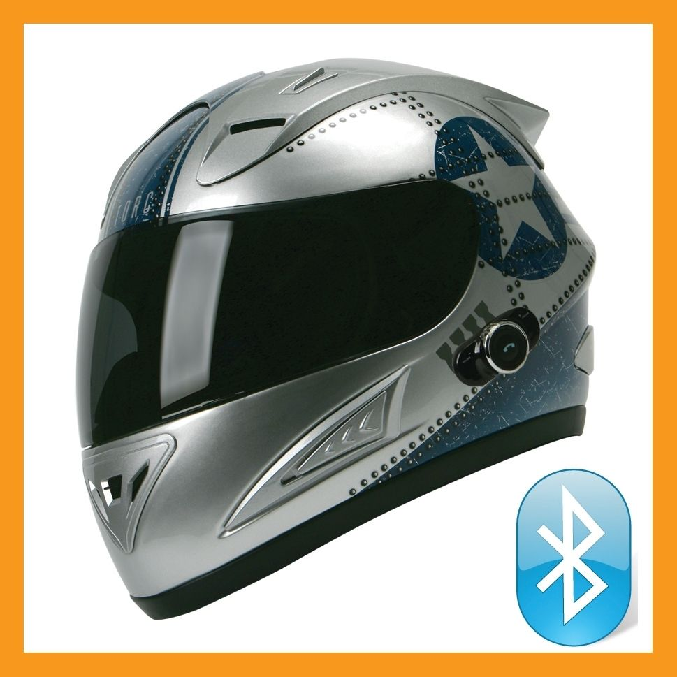 Torc Prodity T10B Full Face Bluetooth Blinc Motorcycle Helmet Fighter