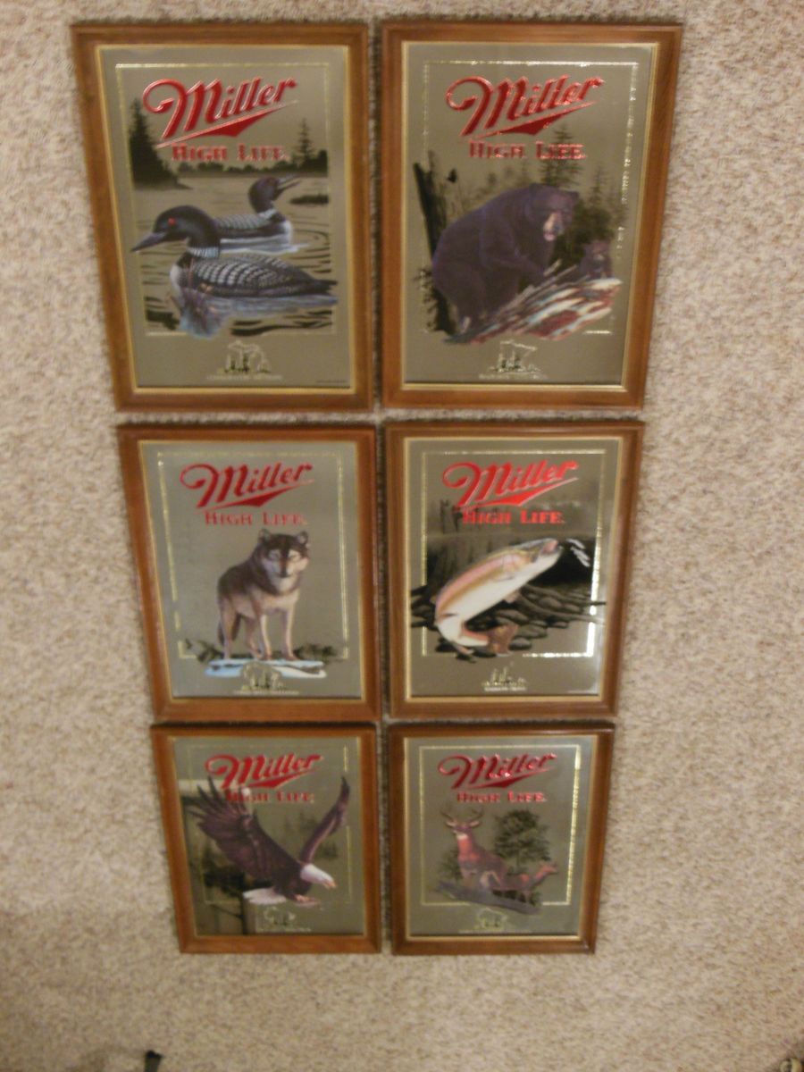 Miller High Life Wildlife Beer Signs Mirrors First 1st