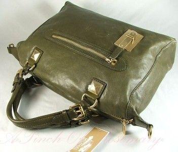 Michael Kors Calista Leather Large Satchel Bag Purse