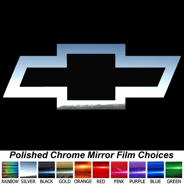 Chevy Bowtie Logo 23 Chrome Film Chevrolet Auto Car Truck Sticker