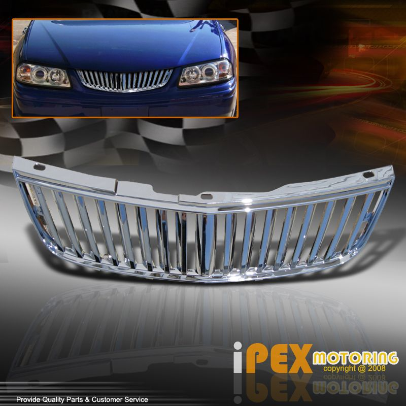 00 05 Chevy Impala Chrome Grille Guard Vertical Style