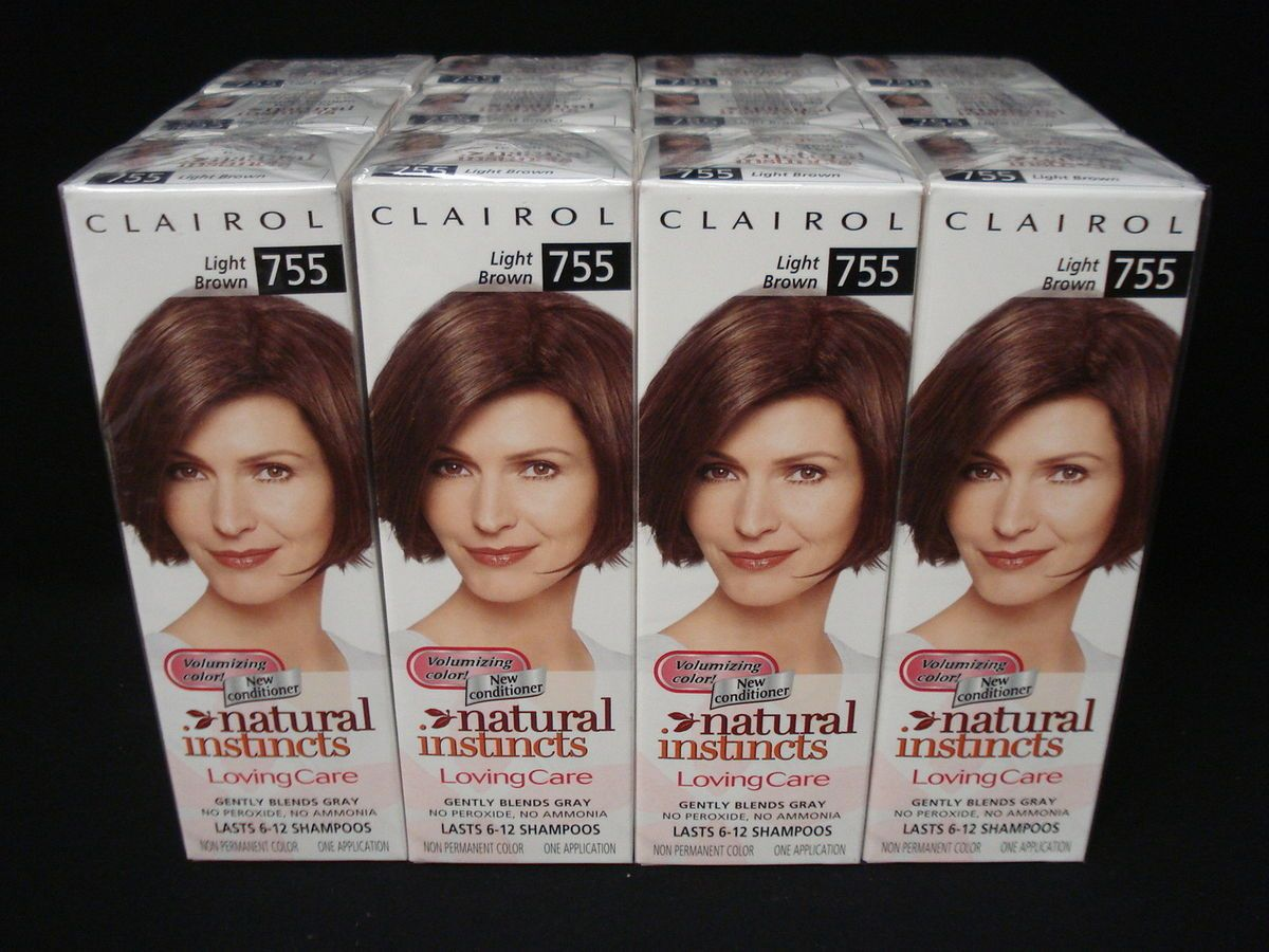 12 Clairol Natural Instincts Loving Care Hair Color Light Brown 755