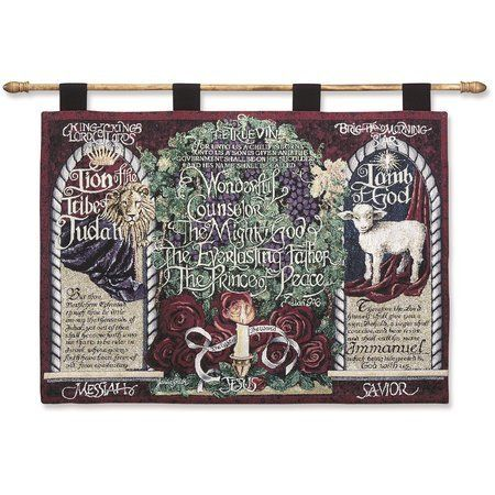 Wonderful Counselor Christian Tapestry Wall Hanging