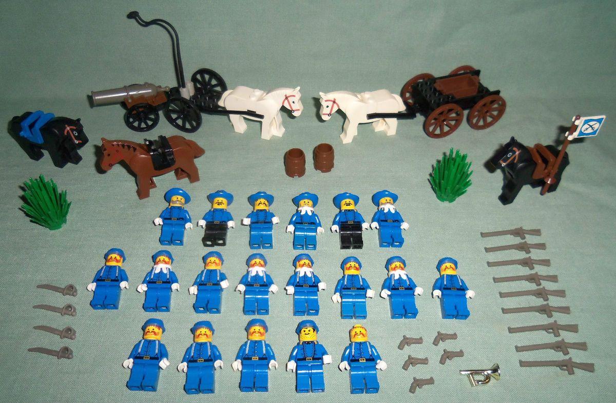 Lego Western Civil War Union Army Cavalry Soldiers