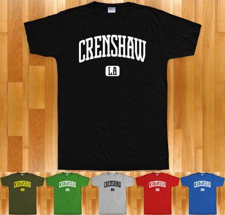Crenshaw T Shirt California La Los Angeles Cali XS 4XL