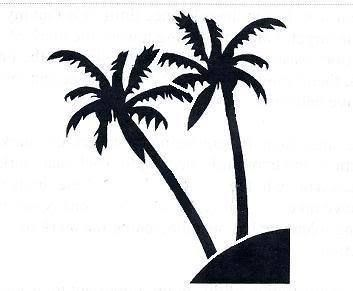 Stencil Palm Trees Tropical Ocean Scene Island Stencil for Crafts