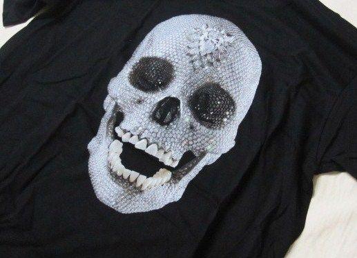 DAMIEN HIRST For the Love of God (Diamond Skull) T Shirt Silkscreen