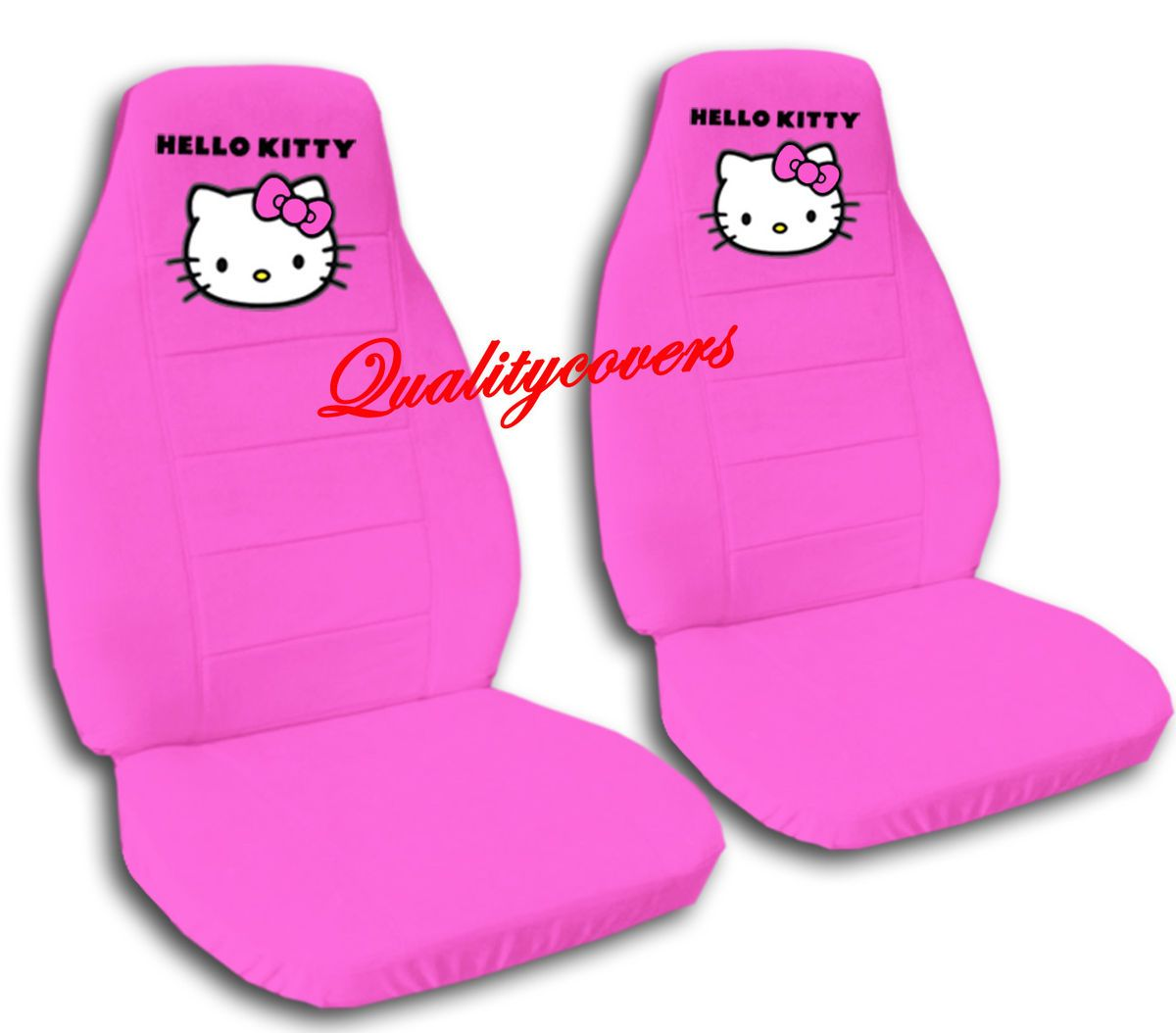 Cute Hello Kitty Car Seat Covers Velvet Hot Pink C L