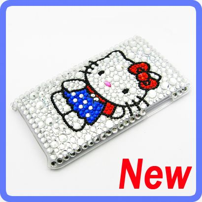 Hello kitty Bling Diamond Back Case Cover For iPod Touch 3rd 3 Gen 2