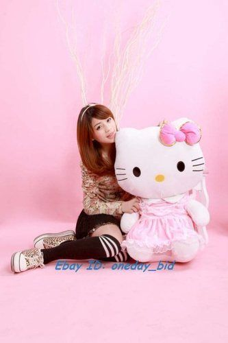 Sanrio Cute Hello Kitty Plush Doll Toy Pink Dress 30H