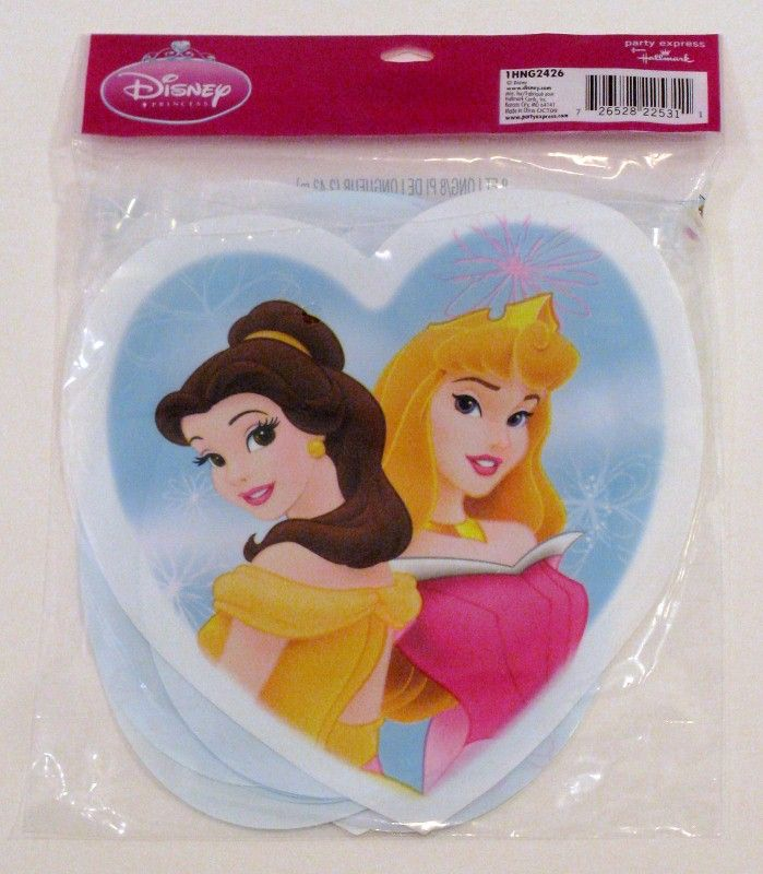 Disney Princess Birthday Party Banner 32 Plates Napkins 16 Cups 2