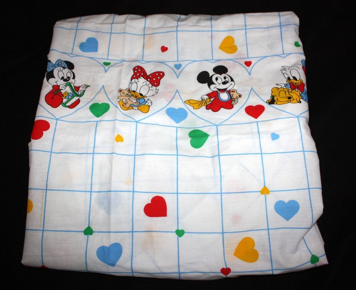 Dundee Crib Sheet Disney Babies Mickey Minnie Mouse