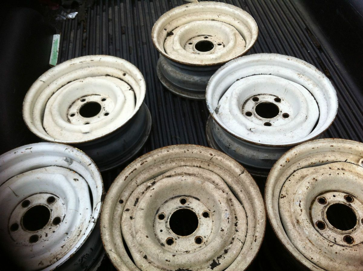 CHEVY GMC 7X15 STOCK WHEELS EXCELLENT