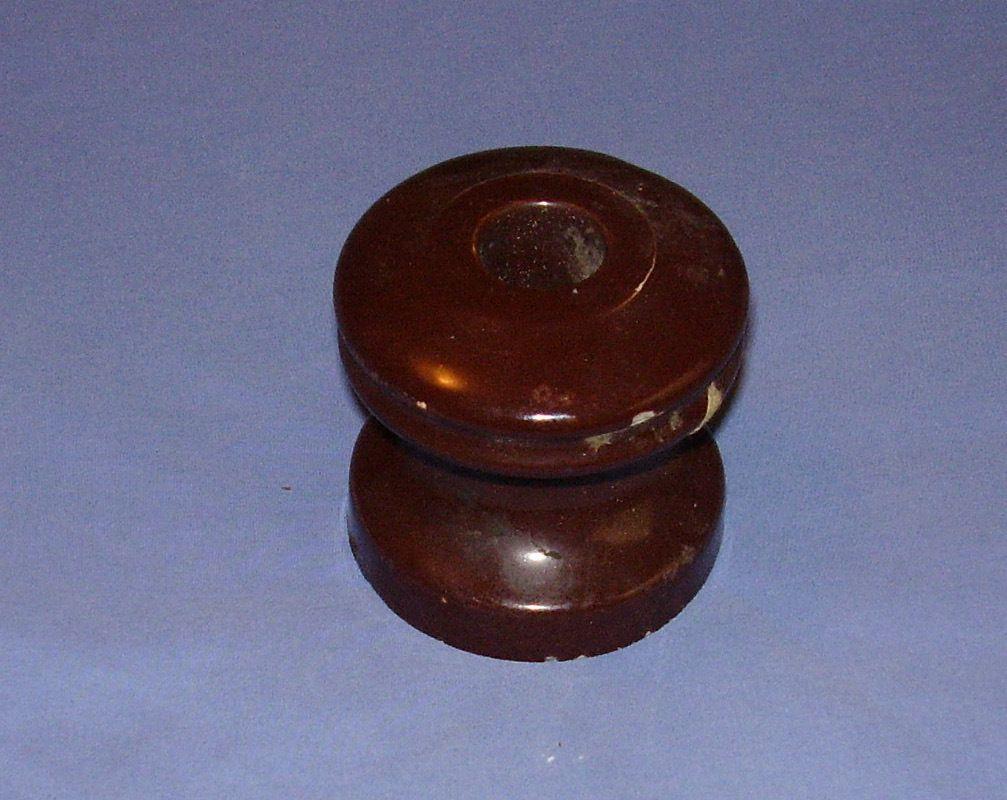 Vintage electric light pole insulator brown ceramic glass for Vintage glass telephone pole insulators