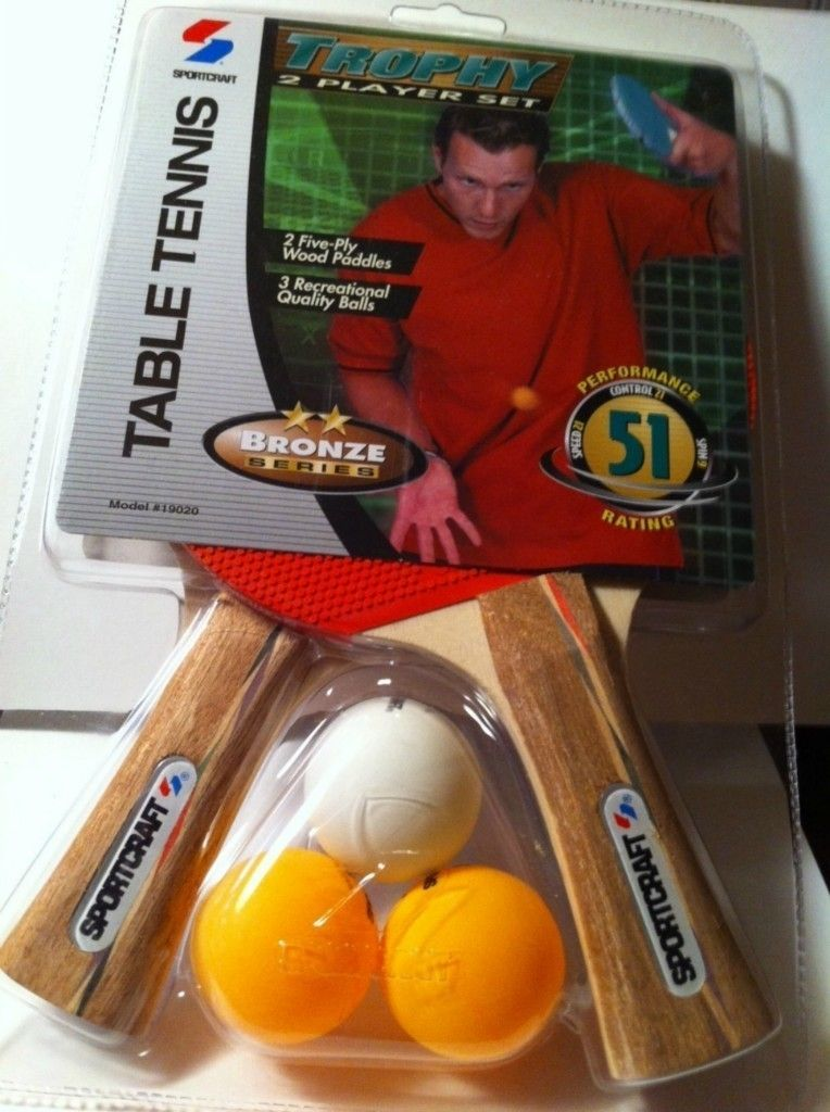Sportcraft Table Tennis Paddles Ping Pong 2 Player Set Model 19020 New