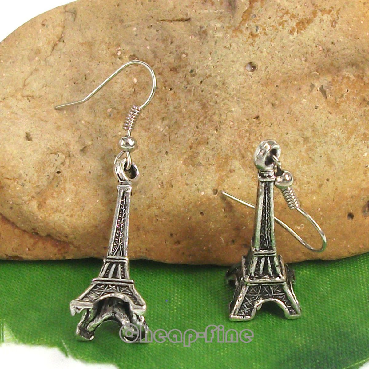 Lots 10Pairs Tibetan silver Eiffel Tower charm pendant Dangle Earrings