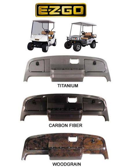 EZGO TXT Golf Cart Dash Cover Carbon Wood Titanium