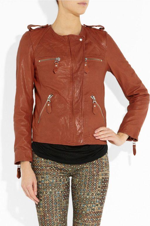 Etoile Isabel Marant Rust Leather Kady Jacket Size FR42