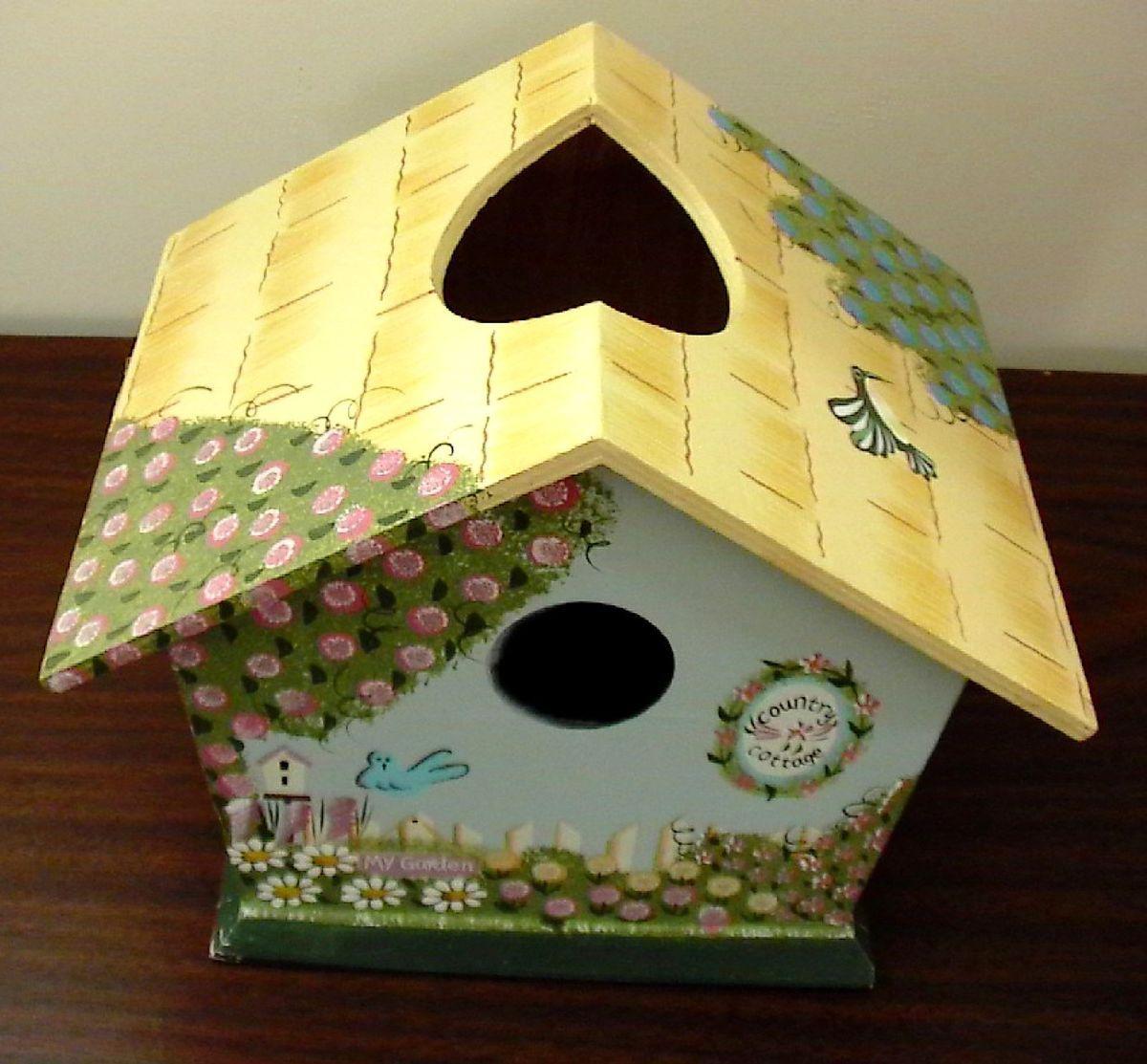 Birdhouse Kleenex Bird House Wood Tissue Box Holder Cover