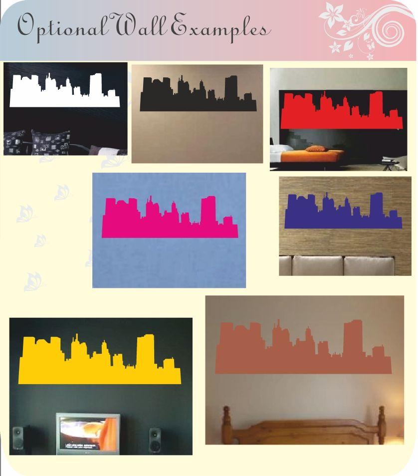 Cityscape Wall Stickers Decal Art City Scene New York London Paris