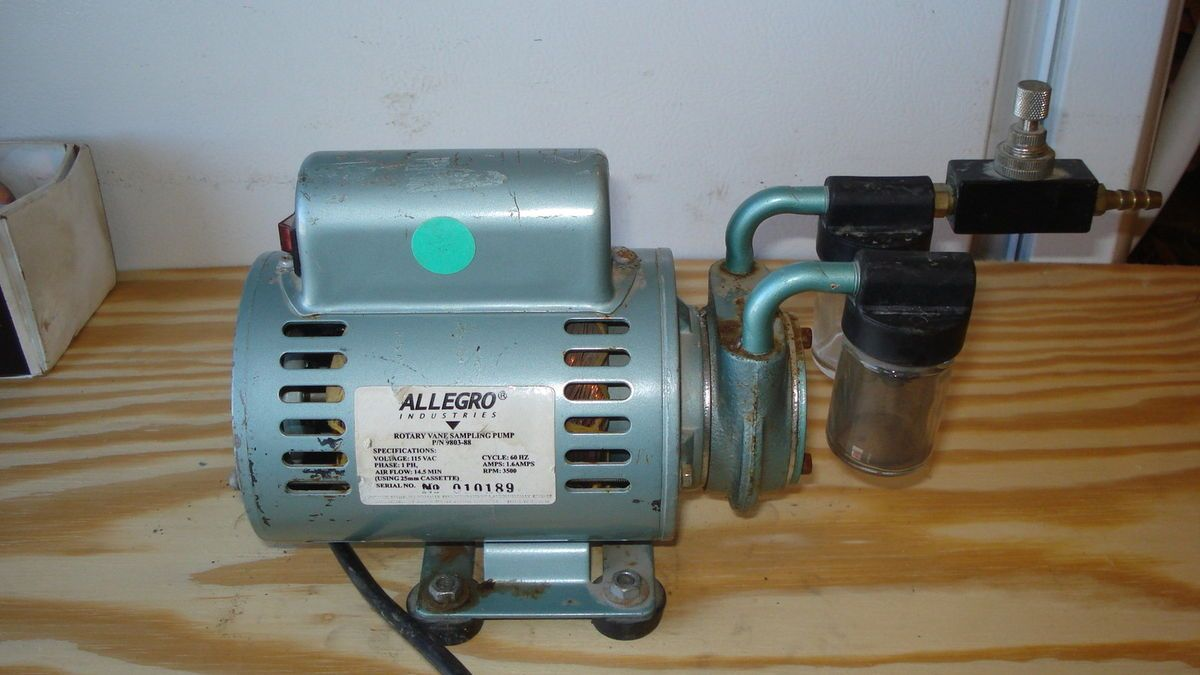 GAST 1 10 HP VACUUM PUMP ARO AIR SPEED CONTROLLER ALLEGRO ROTARY VANE