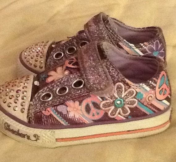 Infant Toddler Girls Skechers Twinkle Toes Shoe Size 5
