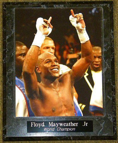 Floyd MAYWEATHER Jr World Champion 10 5x13 Plaque