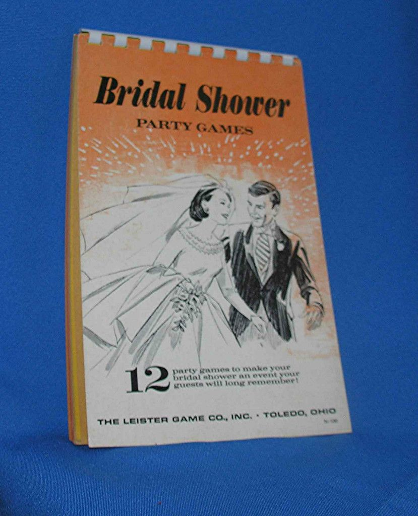 1970s Bridal Shower Party Games Book Pad Includes 12 Games