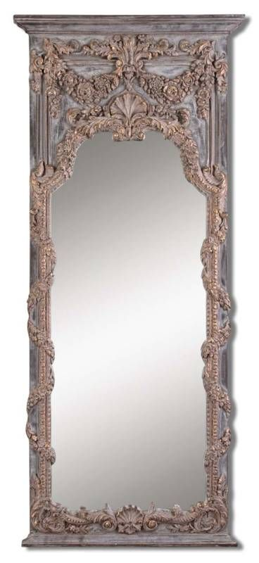 Full Length Ornate Gold Wall Entry Mirror 29 3 4x68