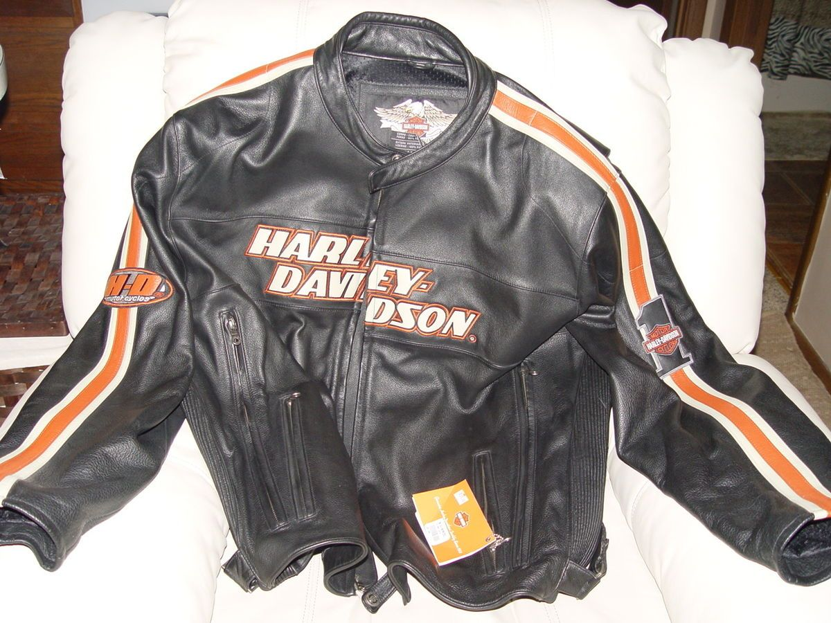 New Harley Davidson Mens 3XL Black Leather Torque Jacket 98114 06VM