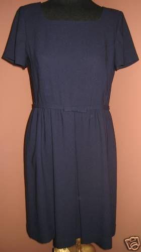 Jones New York Navy Blue Babydoll Dress 8P