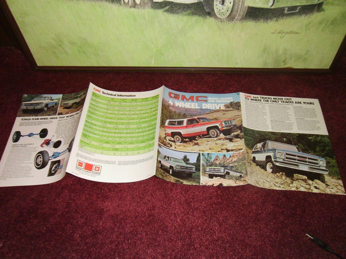 1975 GMC Jimmy Pickup Suburban 4 Wheel Drive Sales Brochure