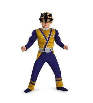 Power Rangers Gold Ranger Samurai Muscle Chest Child Toddler Costume