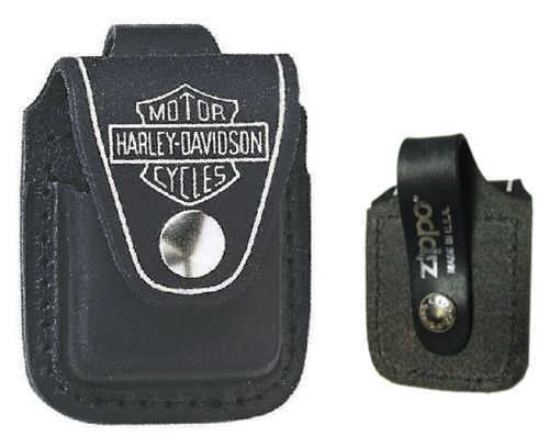 Zippo Harley Davidson Black Leather Lighter Pouch #HDPBK