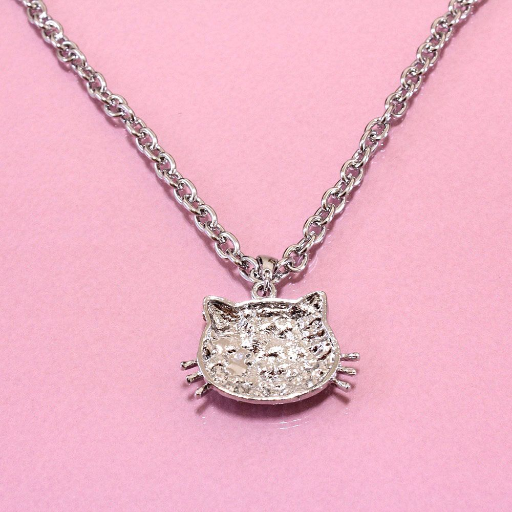 Hello Kitty Pendant Necklace Bling Crystal Cute Girls Gift Fashion