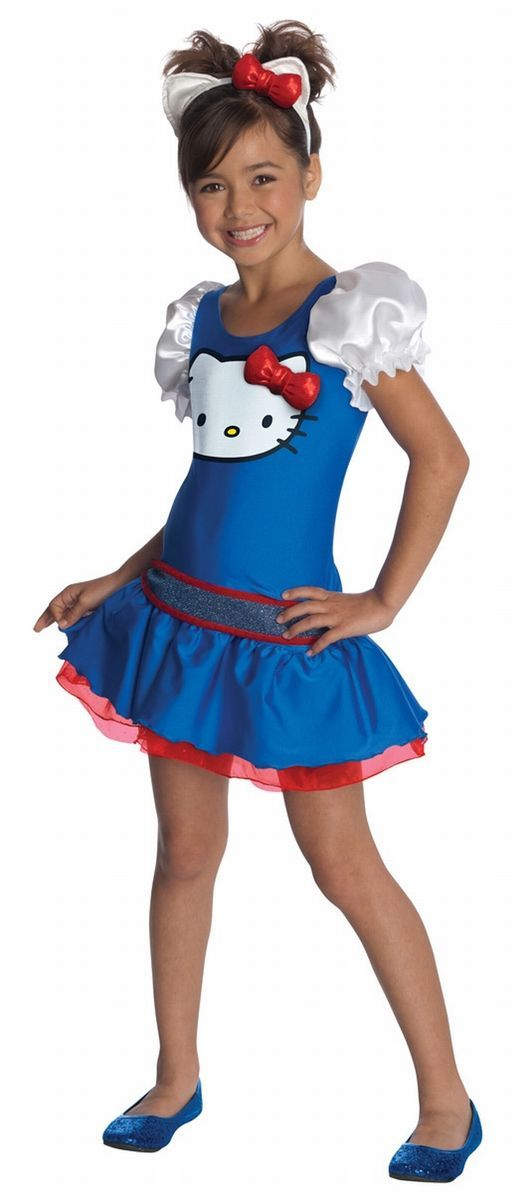 Girls Hello Kitty Blue Dress Halloween Costume Child Size Medium 8 10