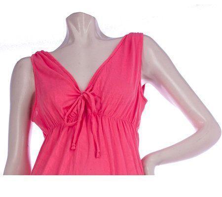 Stan Herman Paisley Pointelle Jersey Maxi Dress V Neck 3X Black NWT