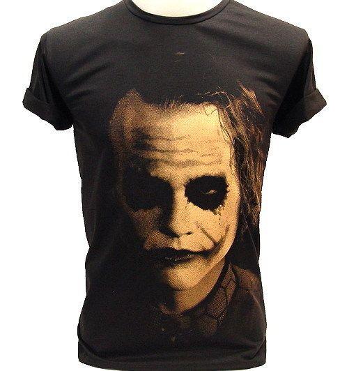 Joker Shadow Heath Ledger Batman Vtg Retro T Shirt XL
