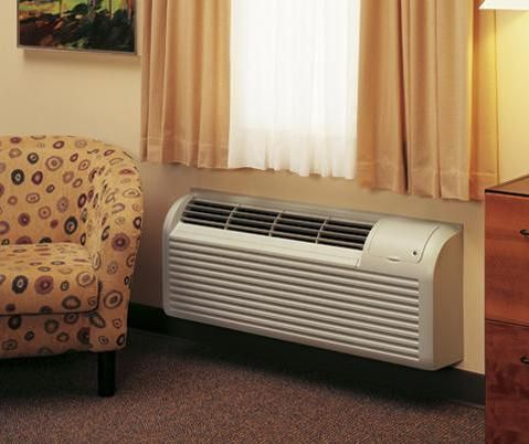 Wall PTAC Heat Pump Air Conditioner 15K BTU Cool 14k BTU Heat