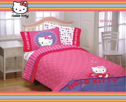 Hello Kitty Bedding Set / Hello Kitty Bed in a Bag, Comforter and