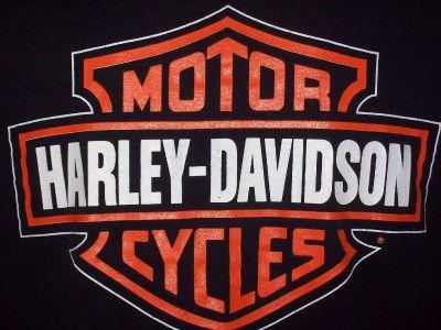 Harley Davidson Bar Shield Back Holoubek 2 Sided Mens T Shirt M