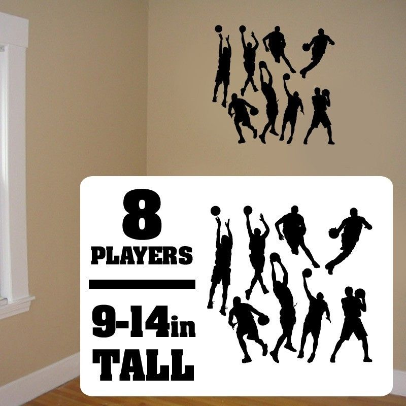 Sticker Bball Vinyl Wall Stickers Hoops Players Decal Vinyl