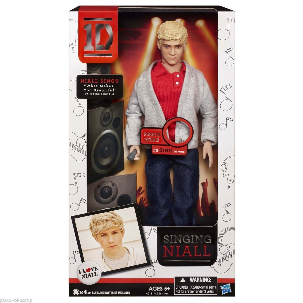 NEW 1D NIALL HORAN One Direction Collector Doll Boy Band Dolls SINGING