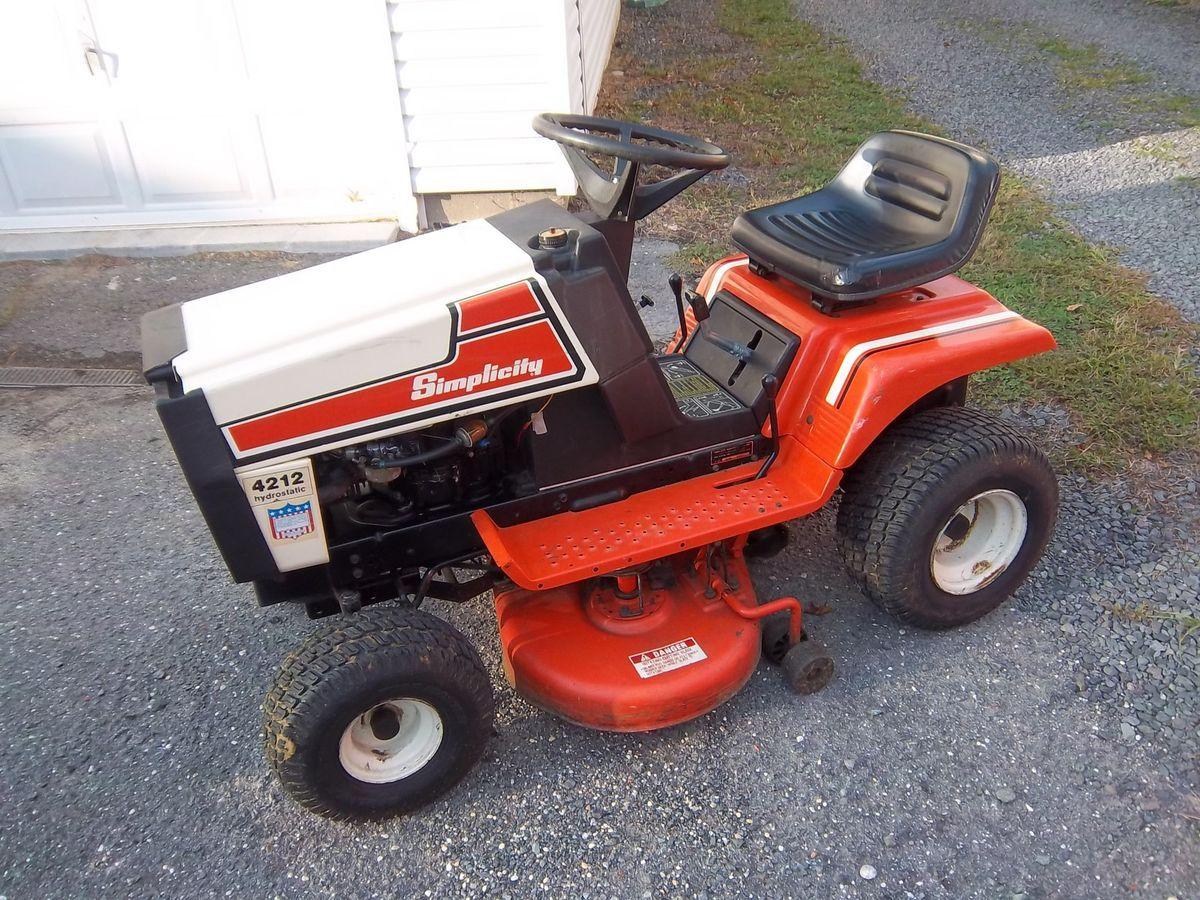 Simplicity 4212 Hydrostatic 12hp Lawn Garden Tractor 42